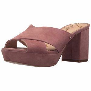 523f8a15351 NIB Sam Edelman Jayne Dusty Rose Platform Sandal